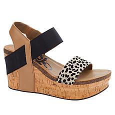 OTBT Bushnell Leather Iconic Wedge Platform Sandal
