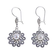 Ottoman Jewelry Cultured Freshwater Floral Earrings