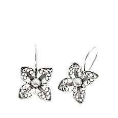 Ottoman Jewelry Sterling Silver Floral Drop Earrings
