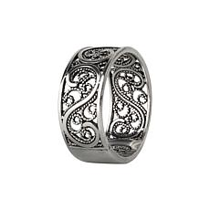 Ottoman Silver Filigree S-Design Band Ring