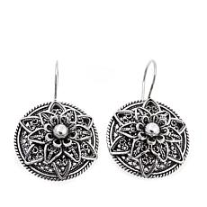 Ottoman Silver Jewelry Floral Lace Drop Earrings