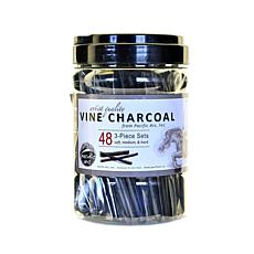 Pacific Arc Vine Charcoal 3-piece Sets Canister of 48
