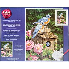 "Paint Works Paint By Number Kit 14"" x 20"" - Garden Bluebirds"