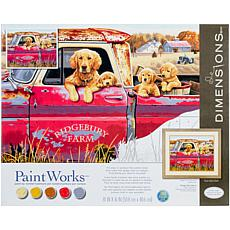 "Paint Works Paint By Number Kit 16"" x 20"" - Golden Ride"