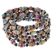 Paper Beads by Janice Mae 7-piece Stretch Bracelet Set