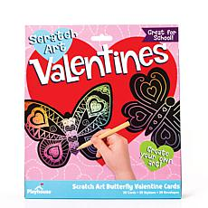 Paper House Butterfly Scratch Art Valentine Cards