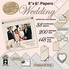 Paper Pizazz Papers and Accents 8X8 - Wedding