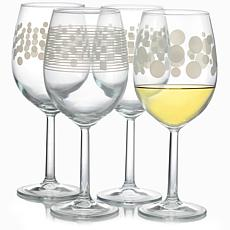 Pasabahce Trend 4-Piece 17.50 oz. All Purpose Wine Glass Set, Assor...
