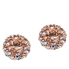 Passport to Gems 14K Gold Gem and Zircon Cluster Stud Earrings