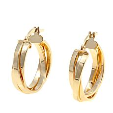 Passport to Gold 14K Braided Hoop Earrings