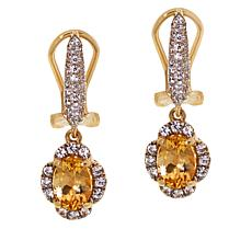 Passport to Gold 14K Gold Imperial Topaz and Zircon Earrings