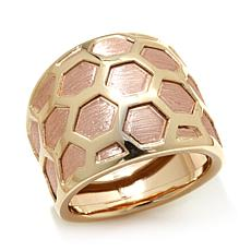 Passport to Gold 14K Rose & Yellow Gold Honeycomb Ring
