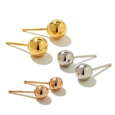 Passport to Gold 14K Tri-Color Stud Earrings