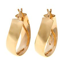 Passport to Gold 14K Yellow Gold Curved Hoop Earrings