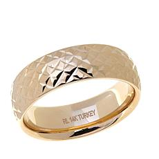 Passport to Gold 14K Yellow Gold Diamond-Cut Band Ring