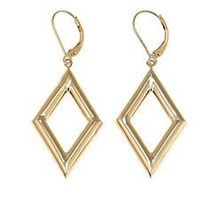 Passport to Gold 14K Yellow Gold Open Diamond Drop Earrings