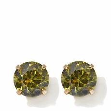 Passport to Gold Kids 14K CZ Peridot-Color Studs