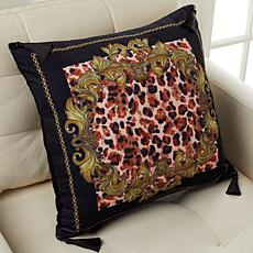 """Patricia Altschul Luxe Baroque Leopard 20"""" x 20"""" Pillow"""