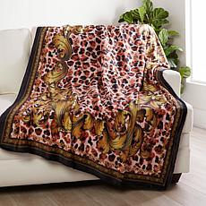Patricia Altschul Luxe Baroque Leopard Throw