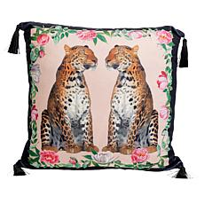 """Patricia Altschul Luxe Leopard Printed 20"""" x 20"""" Pillow"""