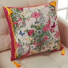 """Patricia Altschul Luxe Royal Garden 20"""" x 20"""" Pillow"""