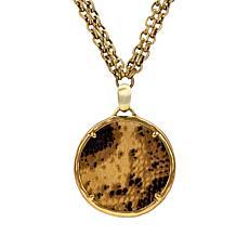 "Patricia Nash 28"" Leather Charm Pendant Necklace"
