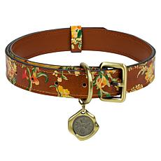Patricia Nash Adjustable Leather Pet Collar - Large