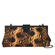 Patricia Nash Athena Printed Haircalf Leather Frame Bag Clutch