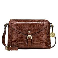 Patricia Nash Avellino Croco-Embossed Leather Crossbody Bag