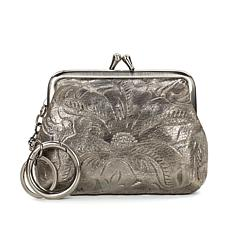 Patricia Nash Borse Metallic Tooled Leather Coin Purse