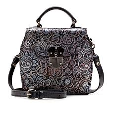 Patricia Nash Brionne Coin-Tooled Leather Crossbody Bag
