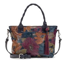 Patricia Nash Caraveli Leather Peruvian Painting Small Crossbody Tote