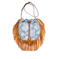 Patricia Nash Carrara Embroidered Denim Hobo