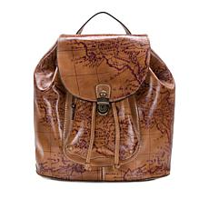Patricia Nash Casape Leather Map Backpack