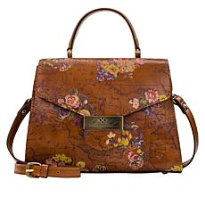 Patricia Nash Casotta Leather Top Handle Satchel