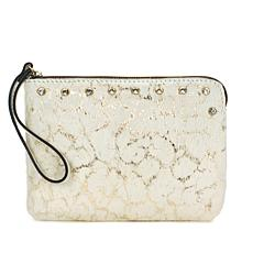 Patricia Nash Cassini Hair Calf and Leather Wristlet
