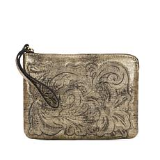 Patricia Nash Cassini Metallic Leather Wristlet