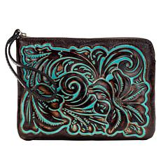 Patricia Nash Cassini Tooled Leather Wristlet