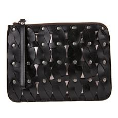 Patricia Nash Cassini Twisted Braid Leather Wristlet