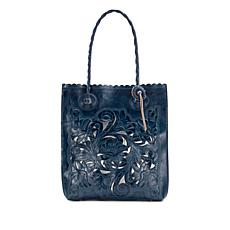 Patricia Nash Cavo Burnished Tooled Leather Cutout Tote