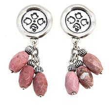 Patricia Nash Charm Collection Wax Charm 3-Stone Earrings