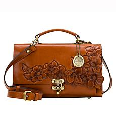 Patricia Nash Charonne Crossbody Leather Satchel