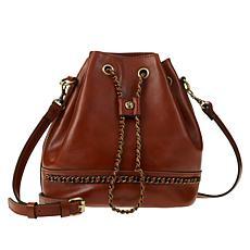Patricia Nash Civetta Leather Drawstring Bag