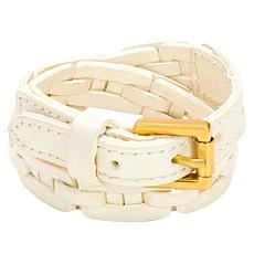 Patricia Nash Clarette Double Wrap Woven Leather Cuff