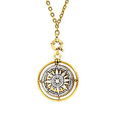 "Patricia Nash Compass Locket Pendant with 30"" Chain"