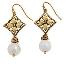 Patricia Nash Cultured Pearl Floret Dangle Earrings