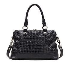 Patricia Nash Discovery Augusta Washed Woven Satchel
