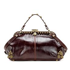 Patricia Nash Discovery Maura Leather Frame Satchel