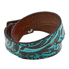 Patricia Nash Double Wrap Leather Cuff Bracelet