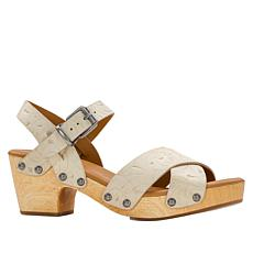Patricia Nash Gigi Wood Bottom Leather Clog